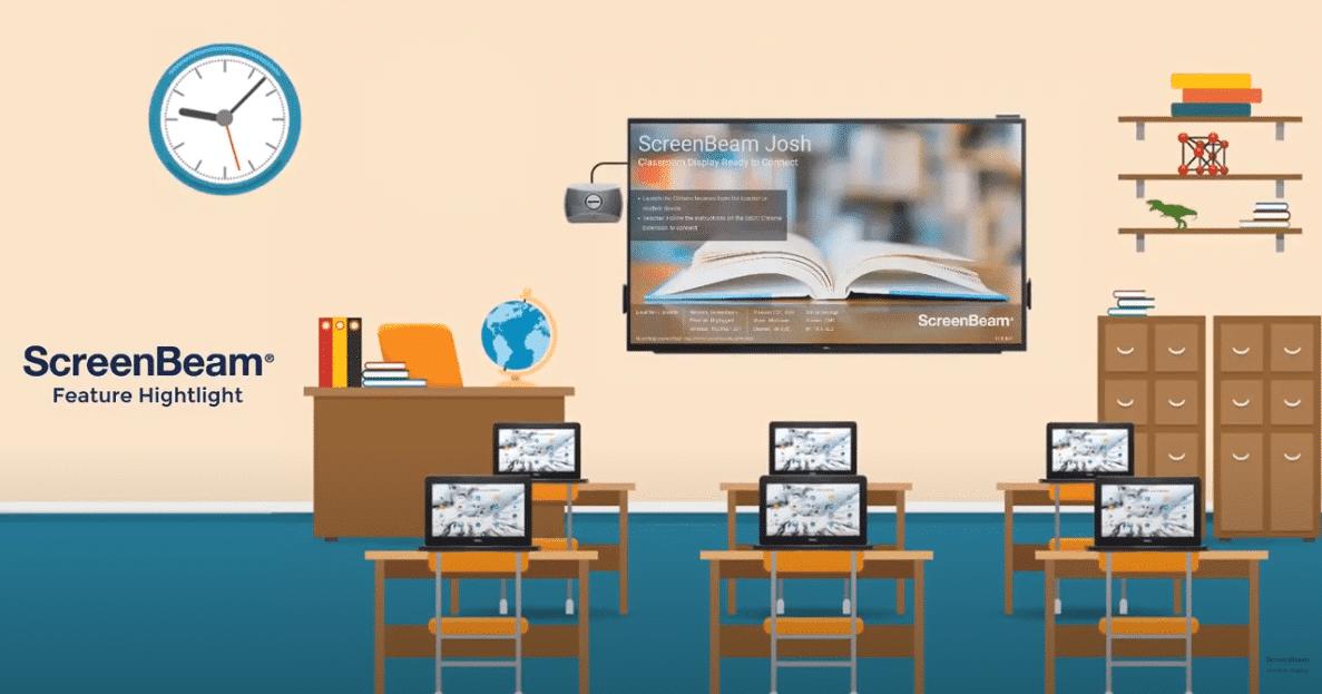 ScreenBeam機能のハイライト– Chromebooks向けのClassroom Commander
