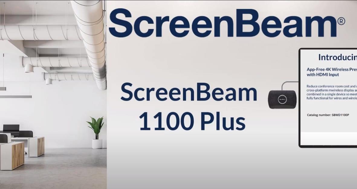 ScreenBeam 1100 Plusが会議スペースを簡素化