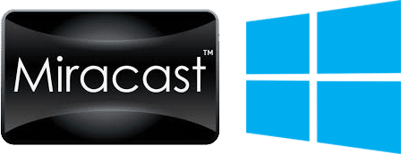 Miracast and Windows 10 logos