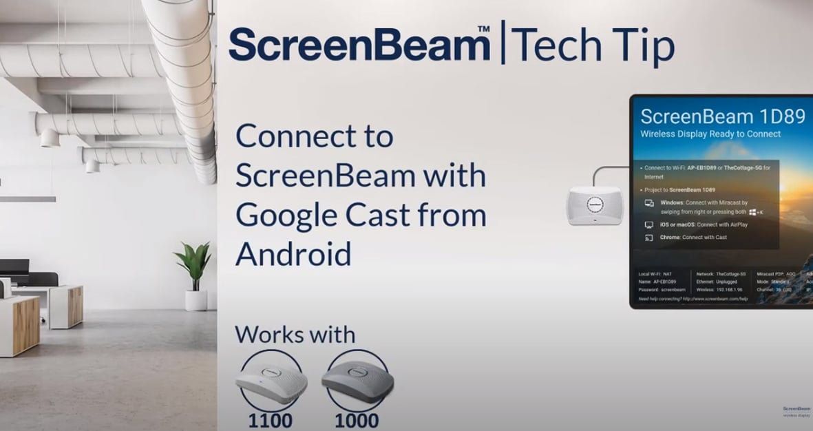 Connect with Google Cast from Android