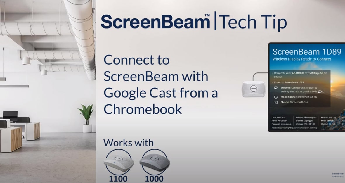 Connect with Google Cast from Chromebook