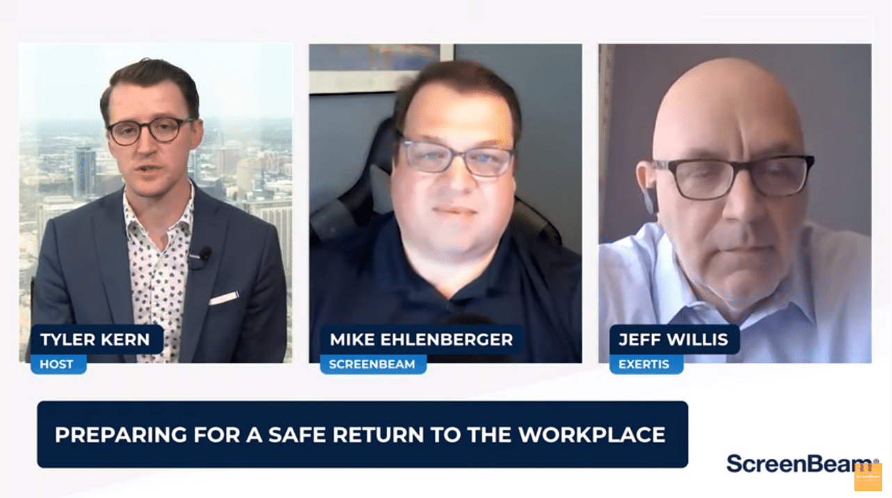Technology's Role in Empowering a Hybrid Workforce featuring Jeff Willis, SVP of Product Management for Exertis and Mike Ehlenberger, VP/GM for ScreenBeam