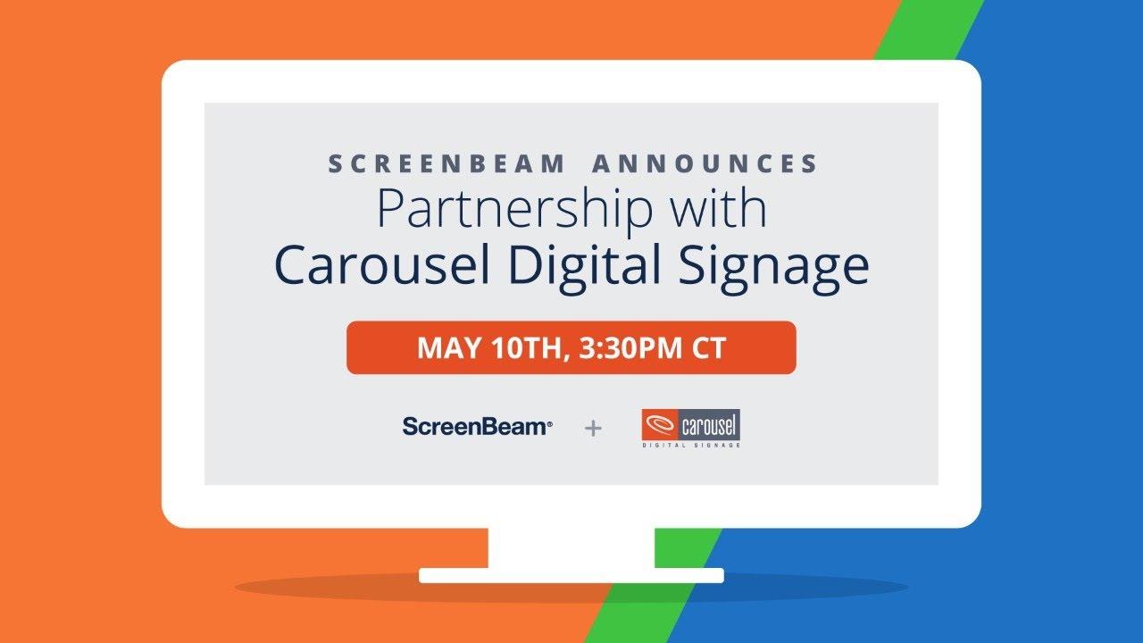 ScreenBeam Announces Partnership with Carousel Digital Signage